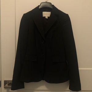 Banana Republic Black Stretch Wool Blazer Suit 00